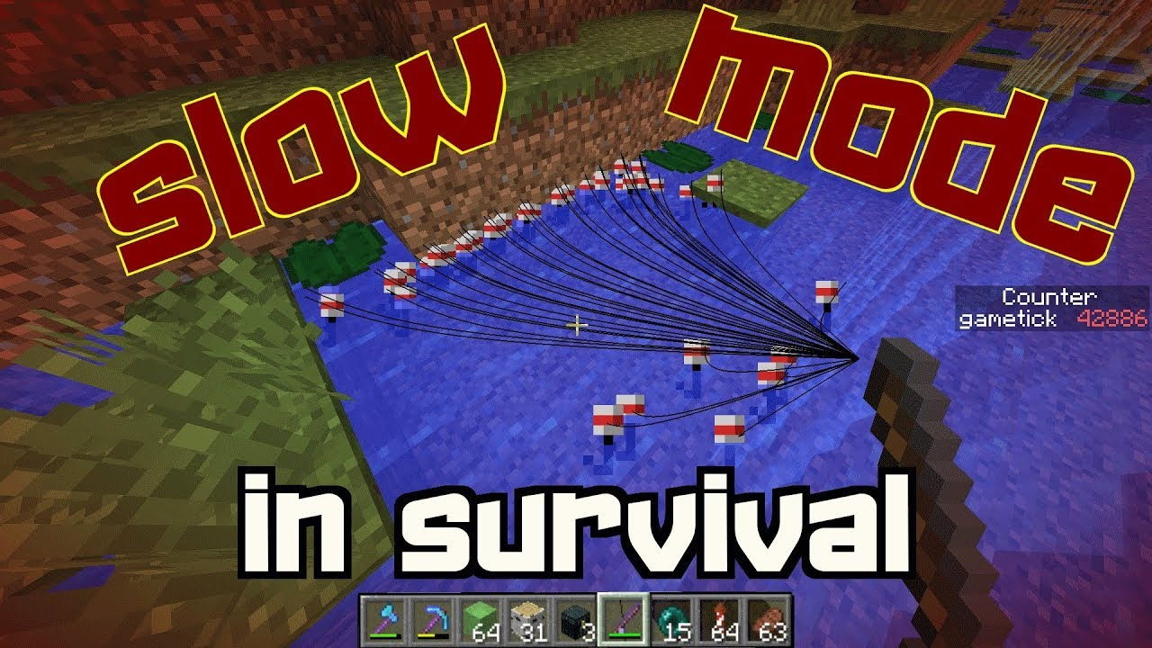 New Slow Mode in Survival!- | 1 13-1 12 Vanilla - Самые