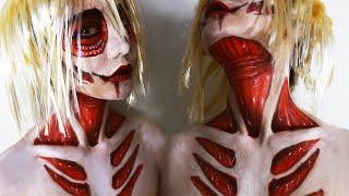 Boyfriend Does My Makeup Halloween Edition ♥ Attack On Titan Annie Makeup Transformation ♥ Wengie