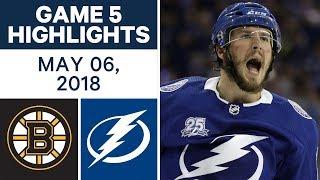 NHL Highlights | Bruins vs. Lightning, Game 5 - May 06, 2018