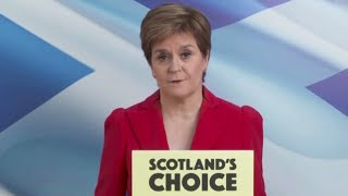 video: Election results 2021: Let Scotland choose its future, says Nicola Sturgeon as SNP falls short of majority