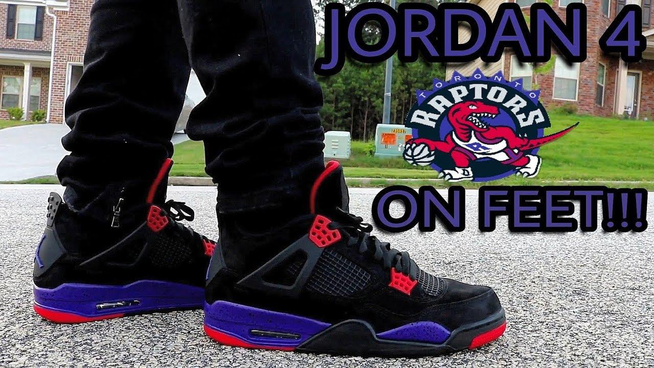 fdee60e1412e07 JORDAN 4 RAPTOR ON FEET REVIEW!!! - YouTube