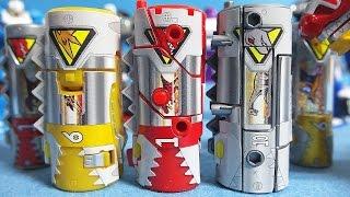 파워레인저 다이노포스 3종류 변신 다이노셀 만들기 장난감