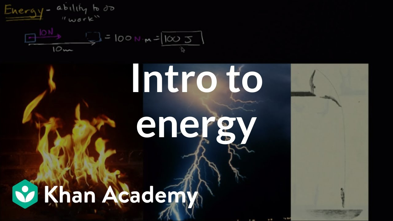 hight resolution of Introduction to energy (video)   Khan Academy