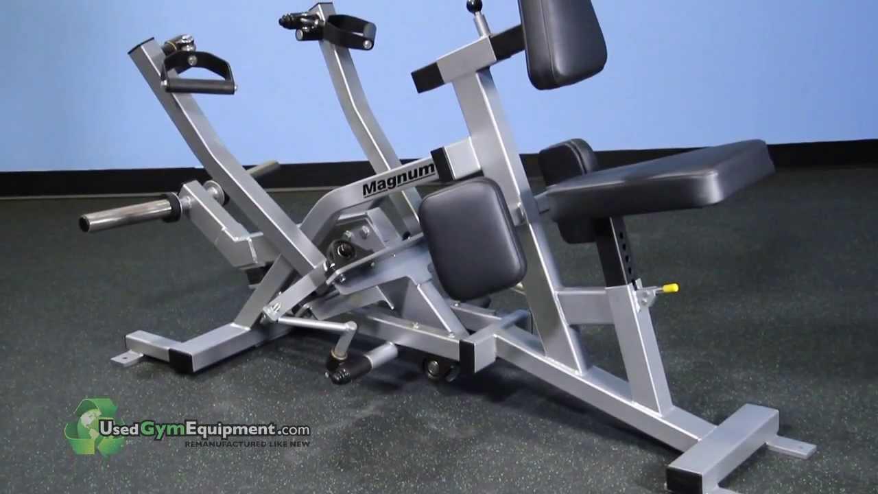 Used Magnum Bi Angular Seated Row Plate Loaded Fitness