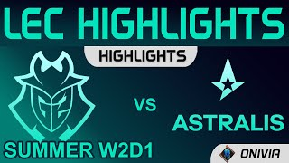 G2 vs AST Highlights LEC Summer Season 2021 W2D1 G2 Esports vs Astralis by Onivia