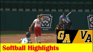 Dudley, GA vs Chesterfield, VA Softball (After Weather Delay) Highlights, 2021 LLWS Southeast Region
