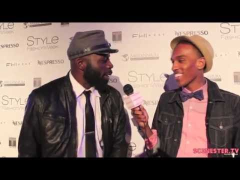 Actor Demetrius Grosse from HBO's Banchee Interviews at Style Fashion Week 2014
