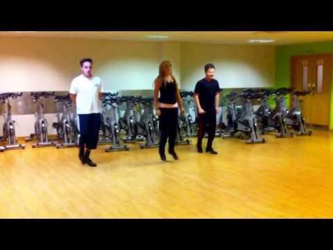 Rachel Downey teaching Ant & Dec Riverdance