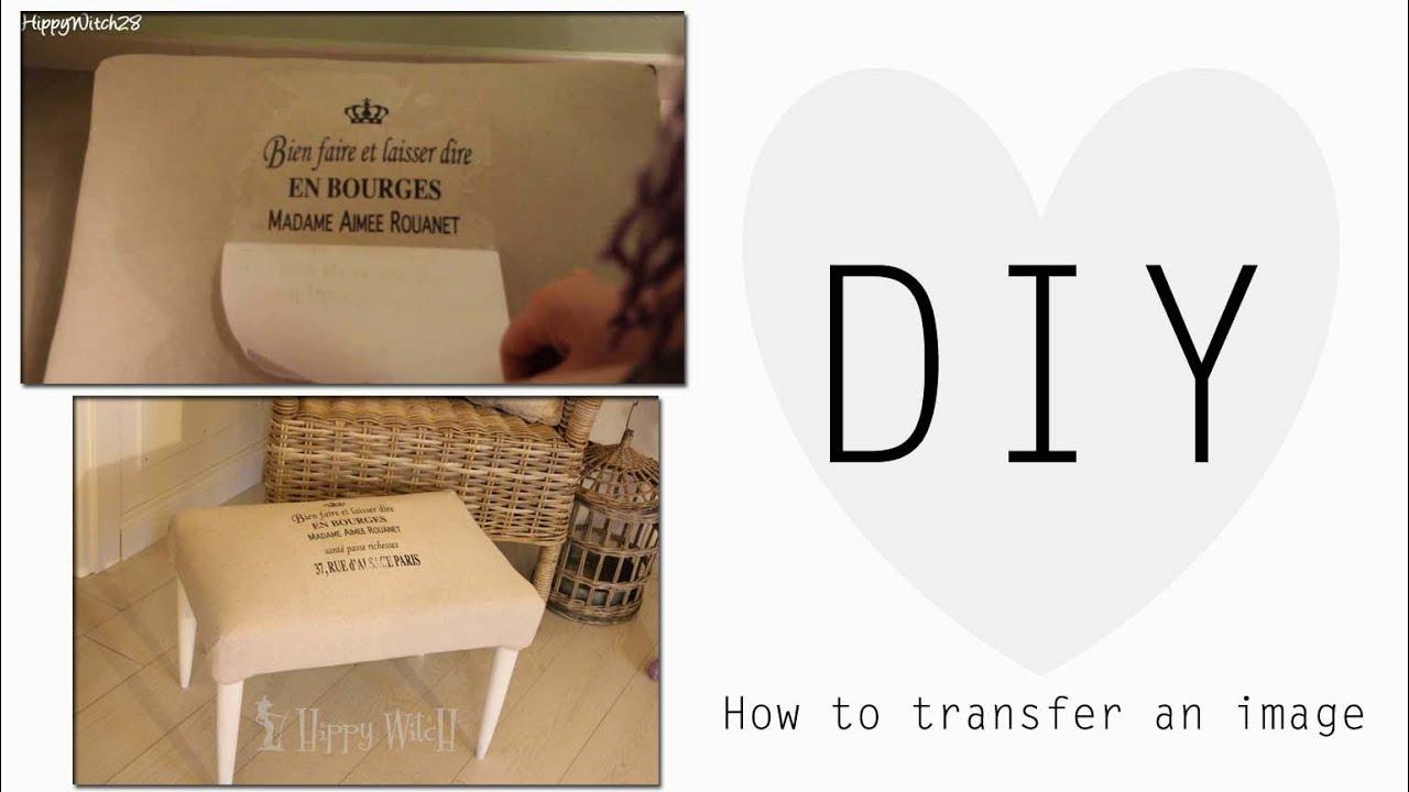 Estremamente Come trasferire SCRITTE/IMMAGINI sui tessuti ❤ - YouTube ND29
