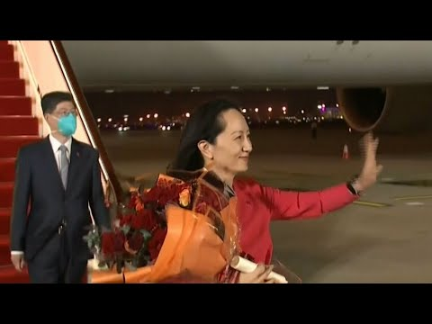 China rolls out the red carpet for arrival of Meng Wanzhou