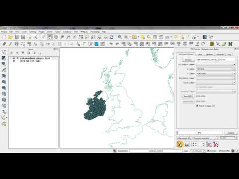 QGIS Biological Records tool: Irish grid example