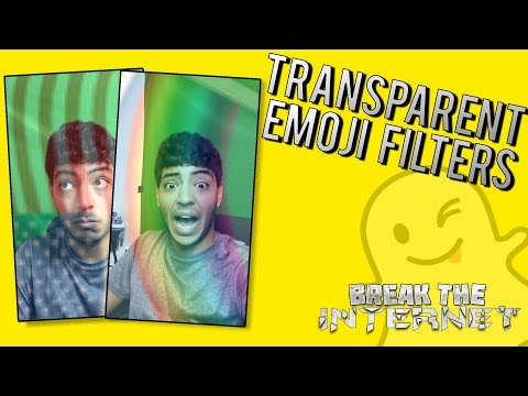 Transparent Emoji/Sticker Effect - MORE SECRET FILTERS! (Snapchat Tips and Tricks)
