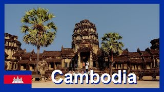 Travel Video Arriving at Siem Reap Airport Cambodia on flight from Bangkok Airport with Air Asia