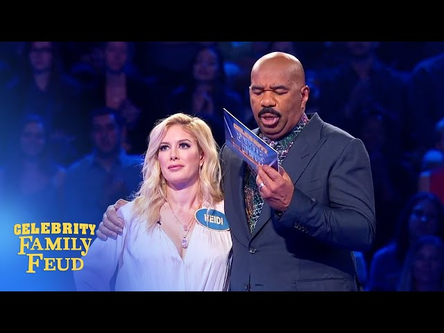 Heidi Montag hits it BIG in Fast Money! | Celebrity Family Feud