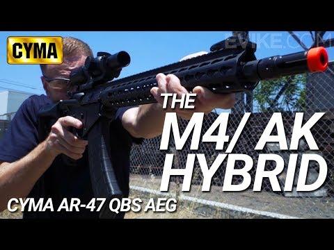 The M4/ AK Hybrid - CYMA AR 47 QBS - Review