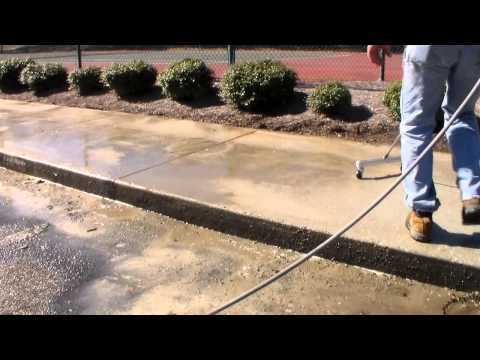 HUGE Pressure Wash Job - Surface Cleaner & Water Broom Demo