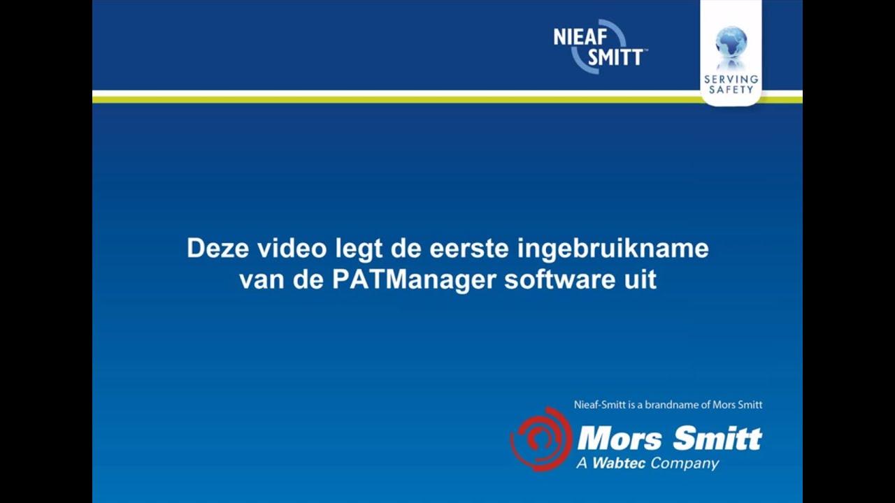Ongekend Nieaf-Smitt PAT-Manager software - Meetwinkel QK-95