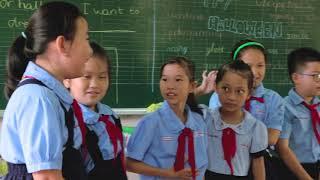 Teaching English at public school.