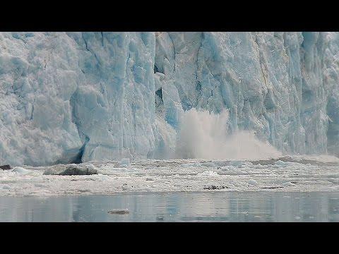 Hubbard Glacier Alaska breaks off taken from Alaskan cruise