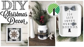 DIY Dollar Tree Christmas Decor | 3 Buffalo Check Projects!