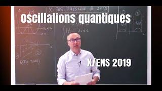 Corrigé X-ENS Physique  B 2019 PC : quantique