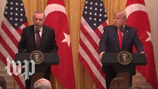Trump and Erdogan hold news conference amid impeachment inquiry