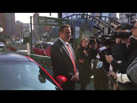 Governor Andrew Cuomo Arrives to NYIAS 2017   New York International Auto Show