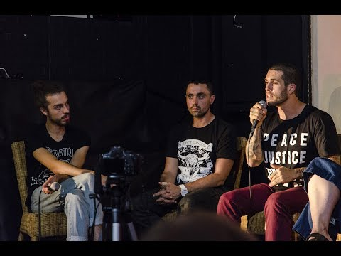 VEGAN ACTIVISTS: Ed Winters, Joey Carbstrong, James Aspey & Louise Wallis (London, 15.07.17)