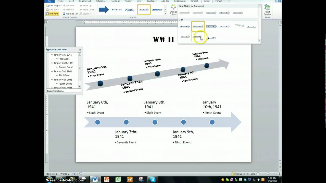 How To Create 3d Timeline Diagram 3d Powerpoint Series Youtube
