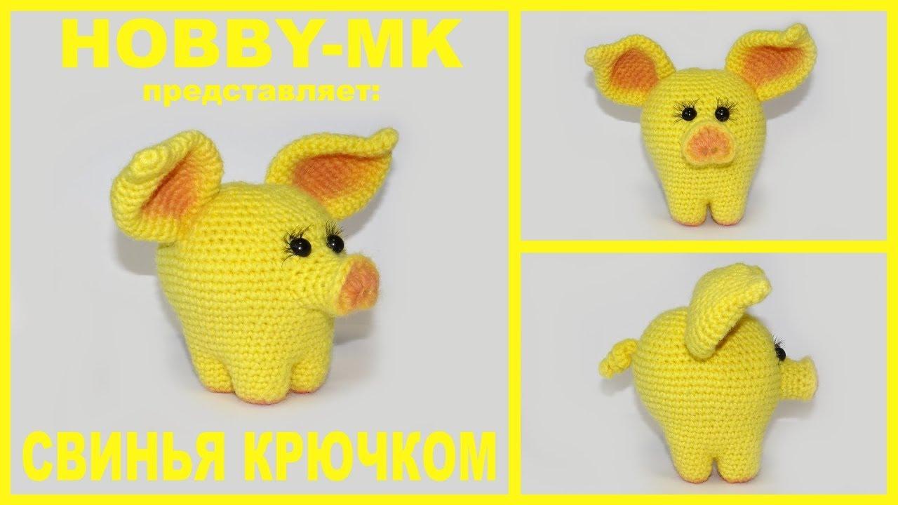 желтая земляная свинья символ года крючком Youtube