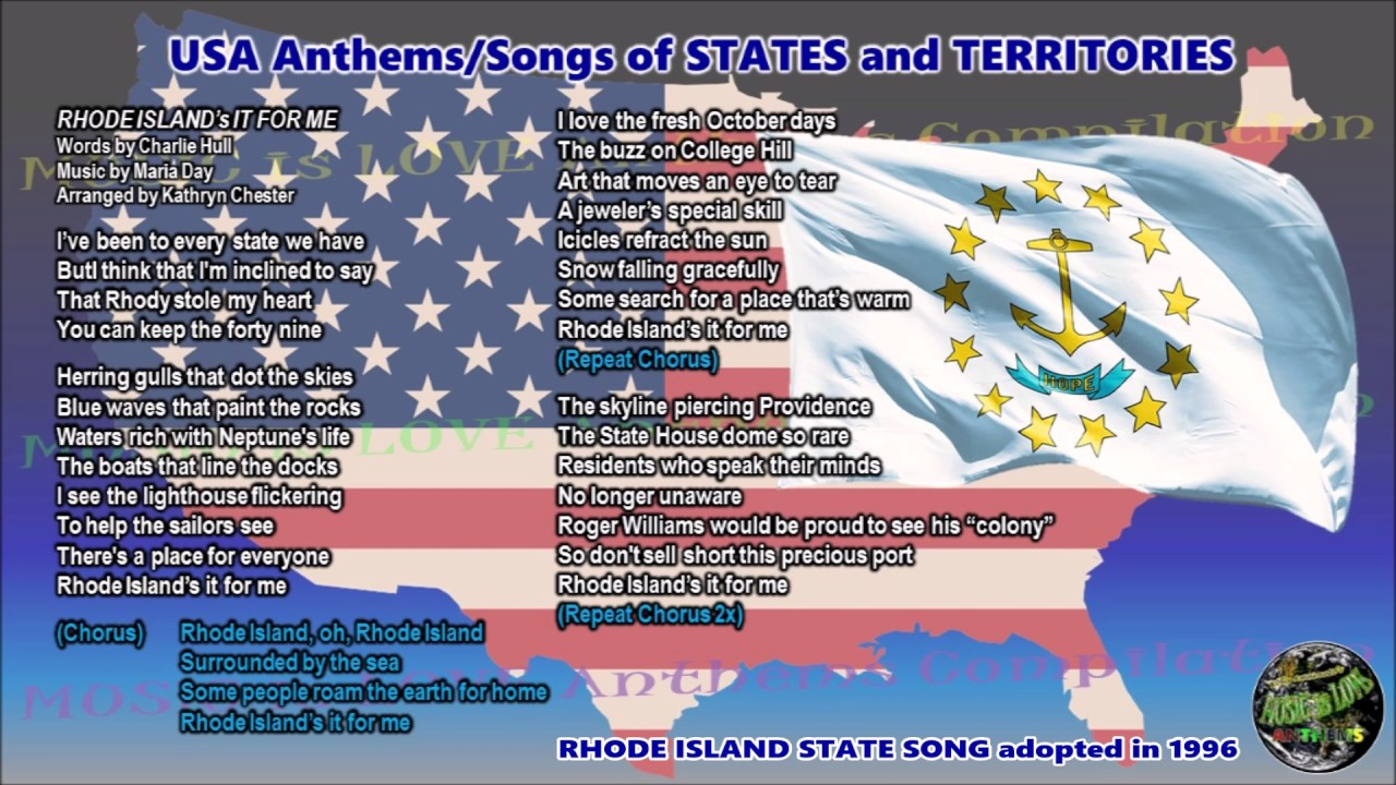 Rhode island state song rhode islands it for me with music vocal rhode island state song rhode islands it for me with music vocal and lyrics sciox Image collections