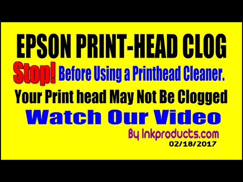 Your Epson Print Head May Not Be Clogged !