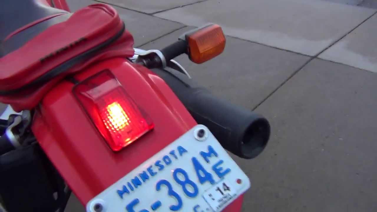 Honda XR650L Mods: ke Light Replacement - WPS Tail Light on