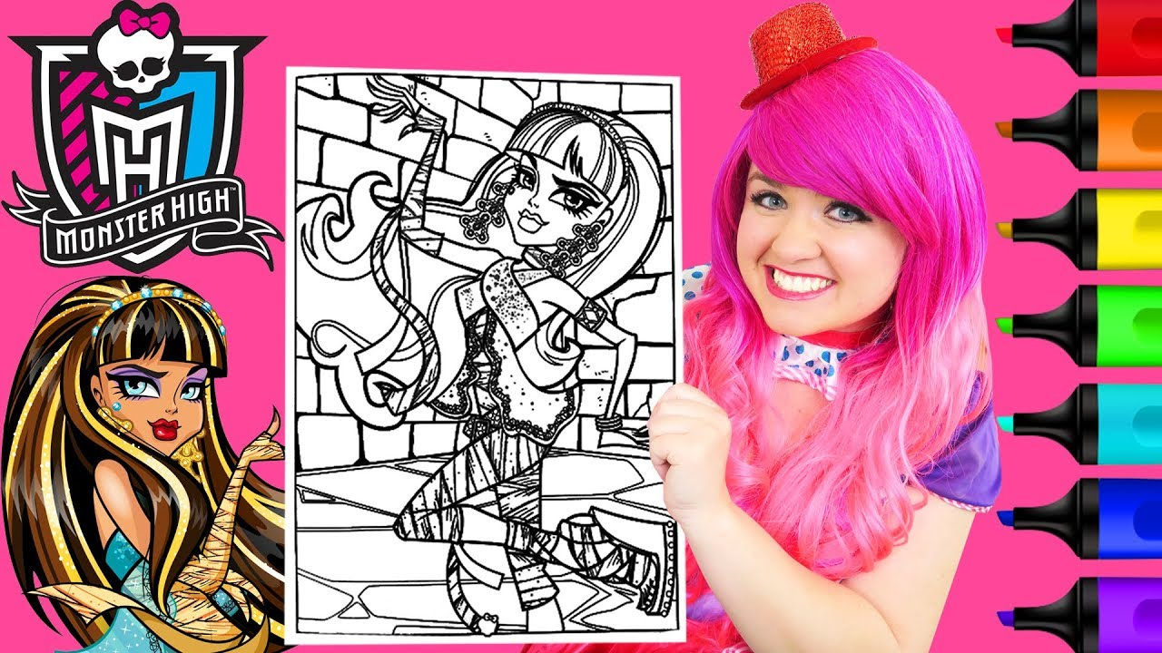 Coloring Monster High Cleo de Nile Coloring Page Prismacolor Markers ...