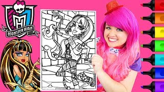 Coloring Monster High Cleo de Nile Coloring Page Prismacolor Markers | KiMMi THE CLOWN