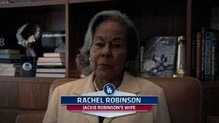Rachel Robinson delivers a special message to Mariano