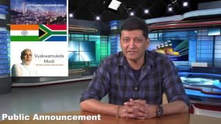 SA welcomes Modi - Public Announcement – Please bring ID document/Passport/Drivers Licence