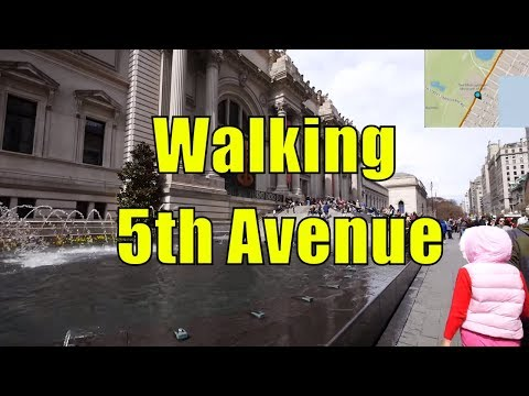 ⁴ᴷ Walking Tour of Upper East Side & East Harlem, Manhattan, NYC - 5th Avenue (GPS Overlay)