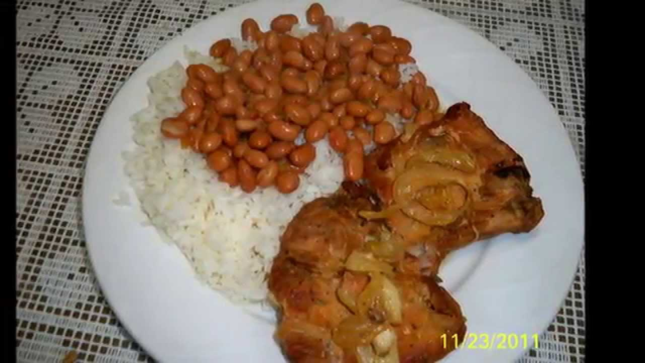 Baked pork chops with white rice and pinto beans youtube ccuart Gallery