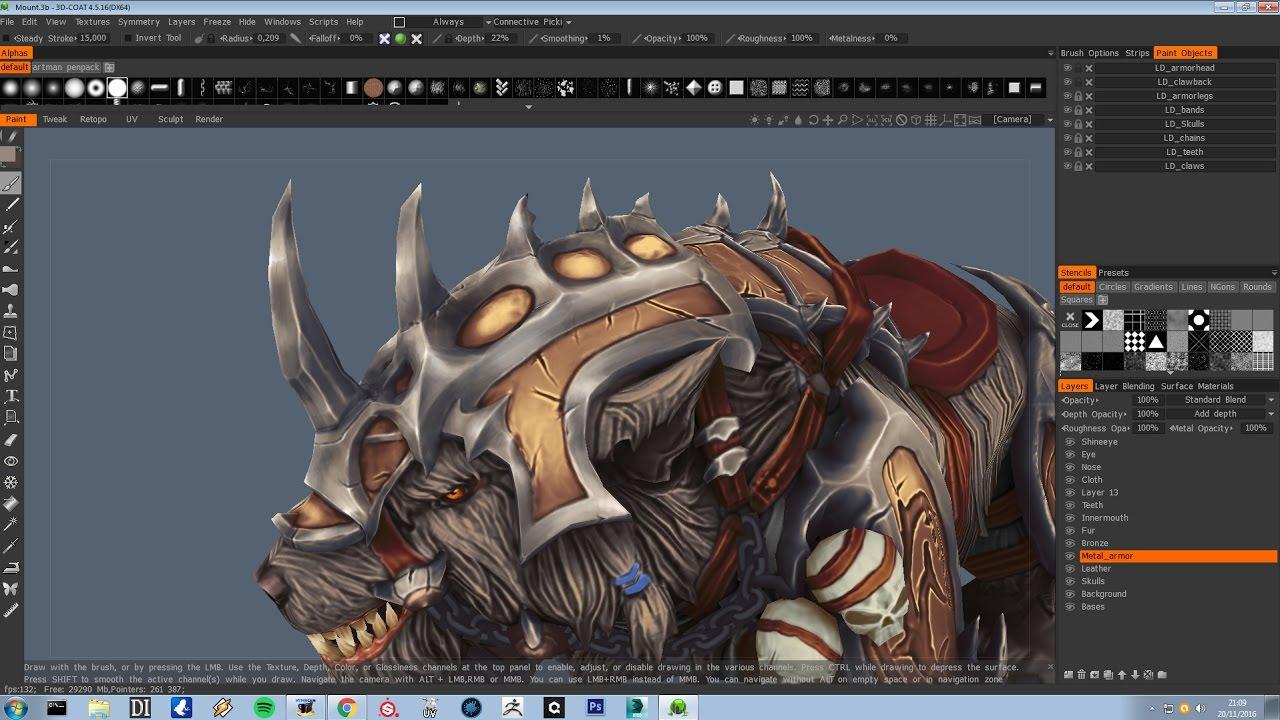 Tutorial Handpainted textures PART 3 3DCoat YouTube