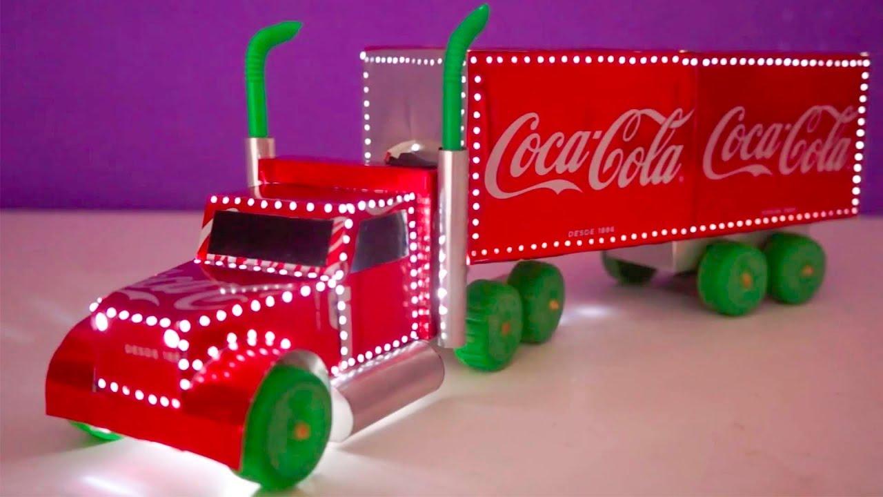 Camión De Juguete Hecho Con Latas De Coca Cola Youtube