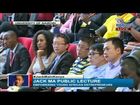 UNCTAD secretary general Dr Mukhisa Khituyi welcomes Jack Ma to Kenya