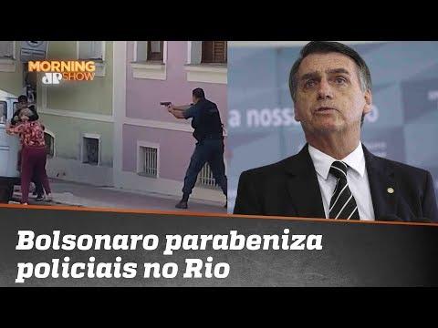 Bolsonaro elogia ação da polícia para salvar idosa das mãos de criminoso, que morreu