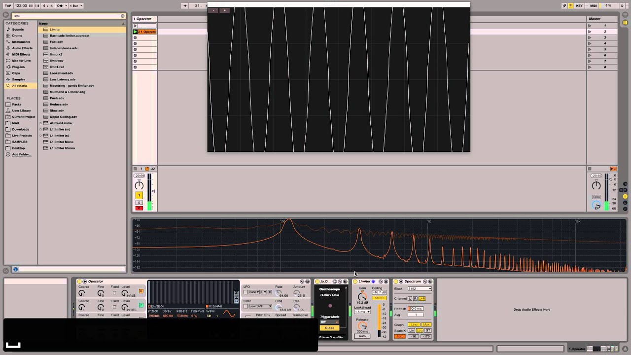 how to use limiter ableton