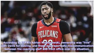 The Anthony Davis trade saga that rocked the NBA world is still hanging over the league on its bi...