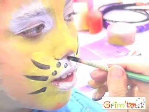 Malowanie Twarzy Wzór Tygrys Grimtout Youtube