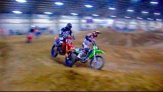CRAZY DIRT BIKE RACE!!! INDOOR MX