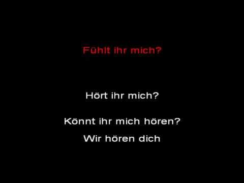 Rammstein - Ich Will [MIG LIVE] (instrumental with lyrics)