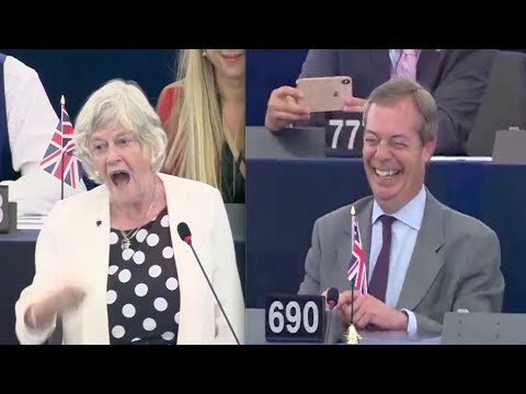 Farage burst into laughter as Brexit Party MEP Widdecombe stuns 'undemocratic' European Parliament