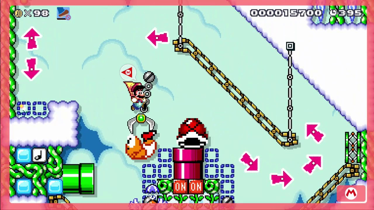 Download Mario Maker 2 - King Arciromalu's Peaks - ID: XVG-GKP-2PG